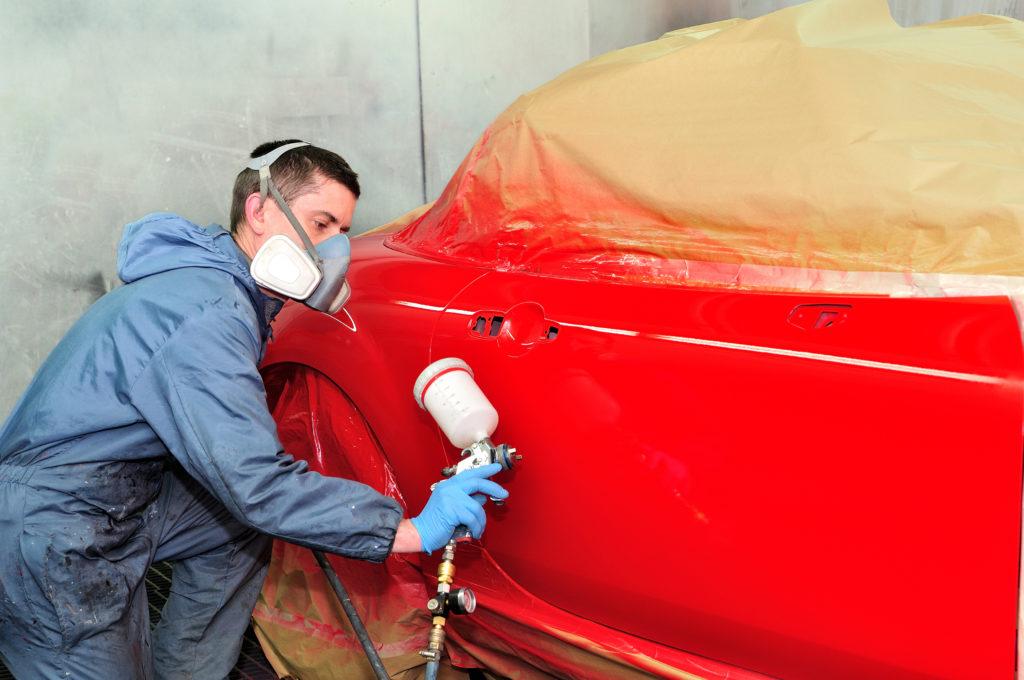 repainting a car